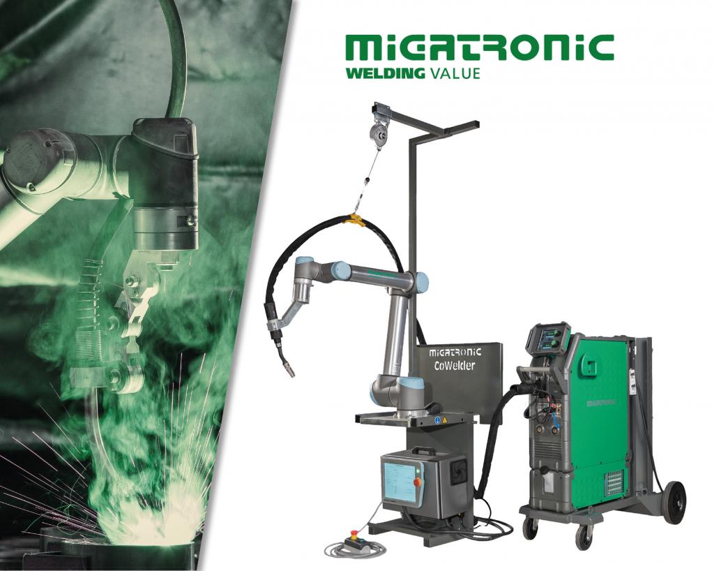 E-P Mig ja Koneen valikoiman uusi Migatronic CoWelder™ -hitsausrobotti on helppokäyttöinen, säästää kustannuksia ja tehostaa tuotantoa.