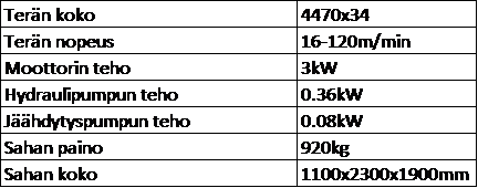 FMB PEGASUS XL 330 tekniset tiedot